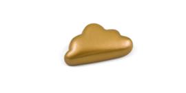 Magneet wolkje blinkend goud