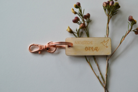 Sleutelhanger goud rosé - oma