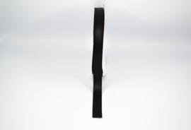 Lint zijde zwart - 23mm