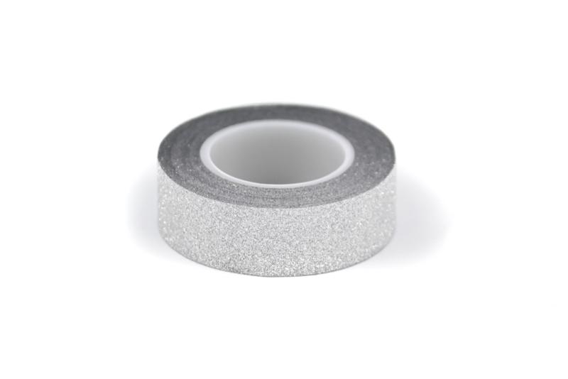Washi tape glinsterend zilver