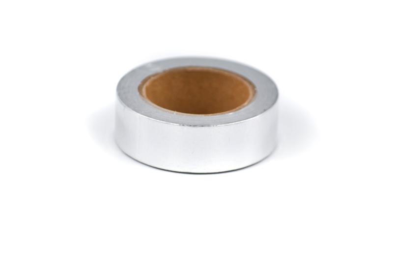 Washi tape blinkend zilver
