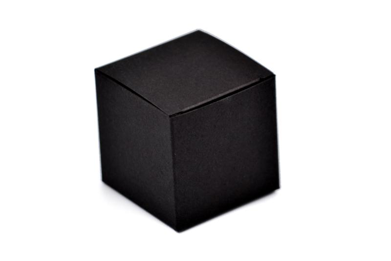 Kubus doosje zwart