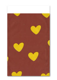 Cadeauzakje Hartjes geel (5 stuks)