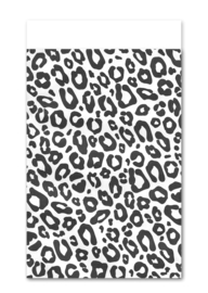 Cadeauzakje Leopard zwart wit (5 stuks)