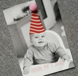 Verjaardagskaartje met pompom