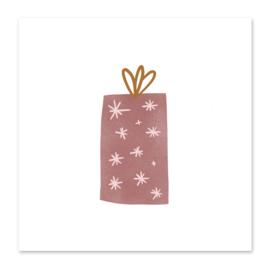 Mini-kaart Kadootje roze