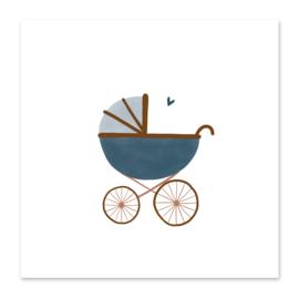 Mini-kaart Kinderwagen boy