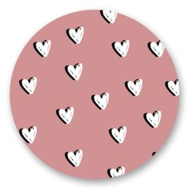 Sticker Hartjes roze  | 10 stuks