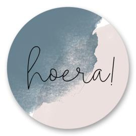 Sticker Hoera! | 10 stuks