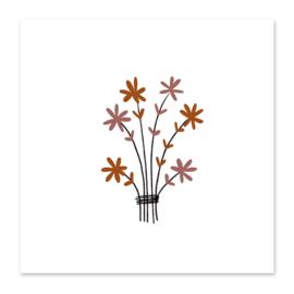Mini-kaart Bosje bloemen