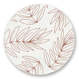 Sticker Botanical bruin | 10 stuks