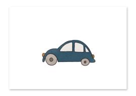 Ansichtkaart Auto blauw