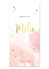 Geboortekaartje Mila