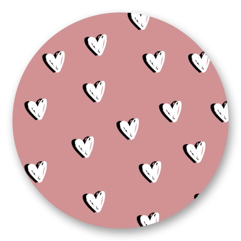 Sticker Hartjes roze    10 stuks