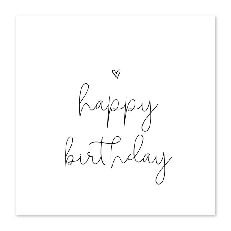 Mini-kaart Happy birthday!