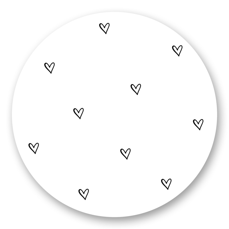 Sticker Hartjes wit  | 10 stuks