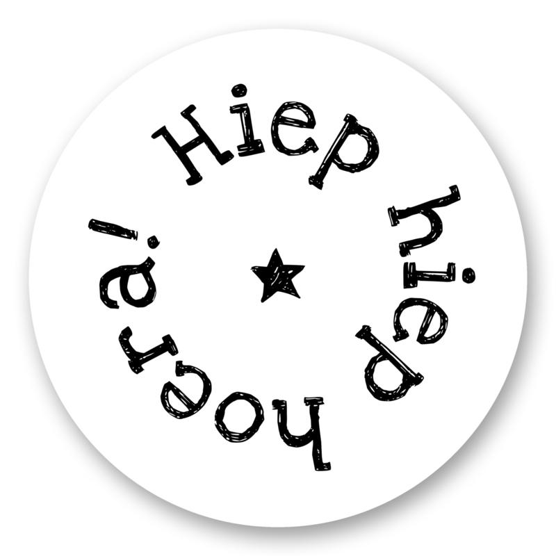 Sticker Hiep hiep hoera! | 10 stuks