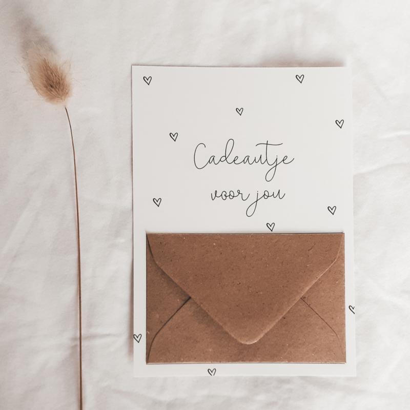 Ansichtkaart Cadeautje voor jou (met envelopje voor geld)