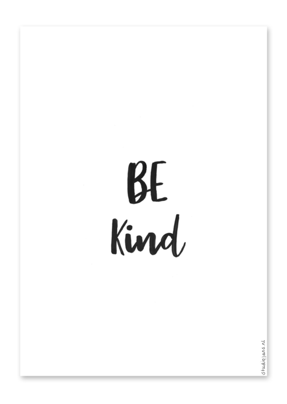 Poster Be kind