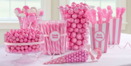 Fluffed pink candy