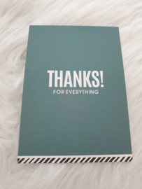 Cadeaukaartje ''Thanks for everything''