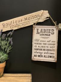 Tekstbord 'Lady's Lounge...'