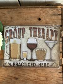 Nostalgisch Bordje 'Group Therapy'