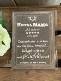 Nostalgisch Bordje 'Hotel Mama...'