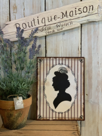 Silhouette 'Engelse Dame'