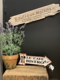 Tekstbord 'Le Cafe..'