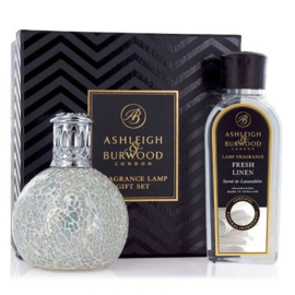 The Pearl Fragrance lamp + 250ml Fresh Linen Lamp Oil