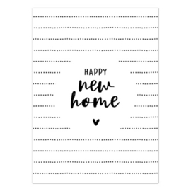Kaart | Happy new home | per 5 stuks
