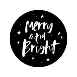 Stickers op rol | Merry and bright