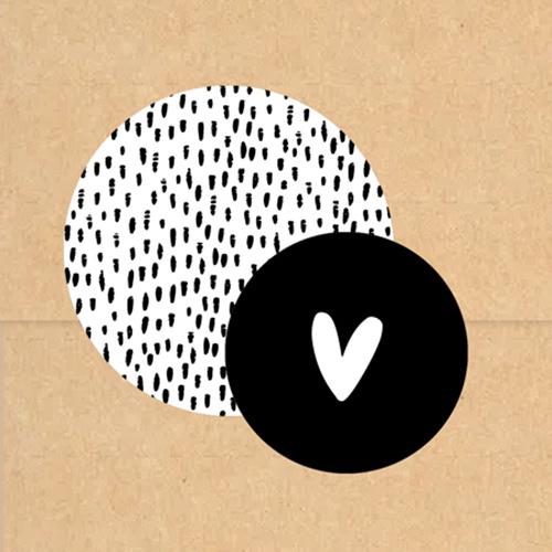 Stickers op rol | Hartje | Wit