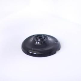 Plafondkapje zwart porselein