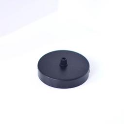 Plafondkapje zwart - 1 gat