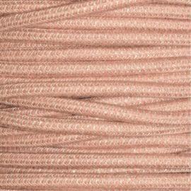 Snoer linnen/oudroze zigzag