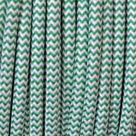Snoer groen/wit zigzag