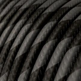 Snoer zwart/grijs gestreept