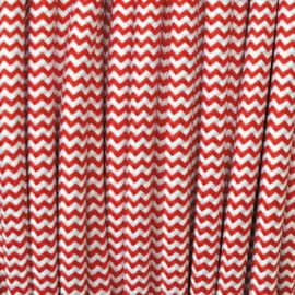 Snoer rood/wit zigzag