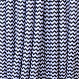 Snoer geaard zwart/wit zigzag