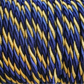 Snoer geaard gedraaid blauw/goud