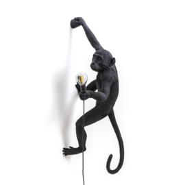 Seletti - Monkey lamp hangend links zwart