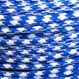 Snoer donkerblauw/wit pied-de-poule