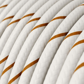 Snoer wit/koper gestreept
