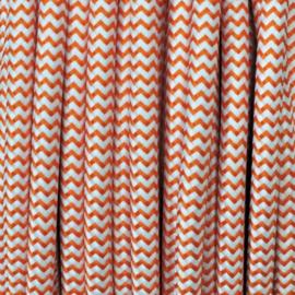 Snoer oranje/wit zigzag