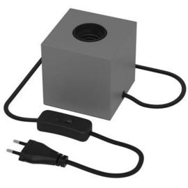 Tafellampje kubus - grijs