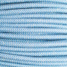 Snoer linnen/blauw zigzag