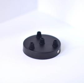 Plafondkapje zwart - 4 gaten