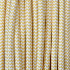 Snoer geel/wit zigzag